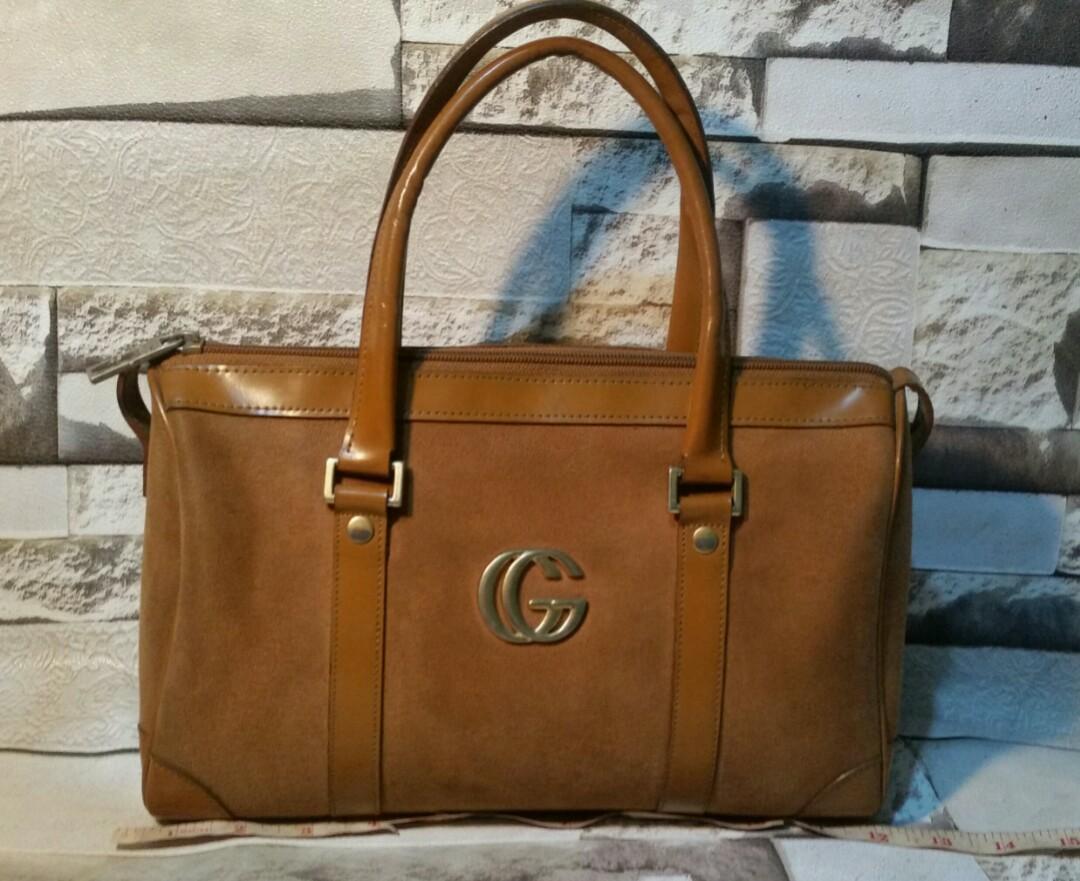 b3b15956621 Paolo Gucci Suede Speedy bag