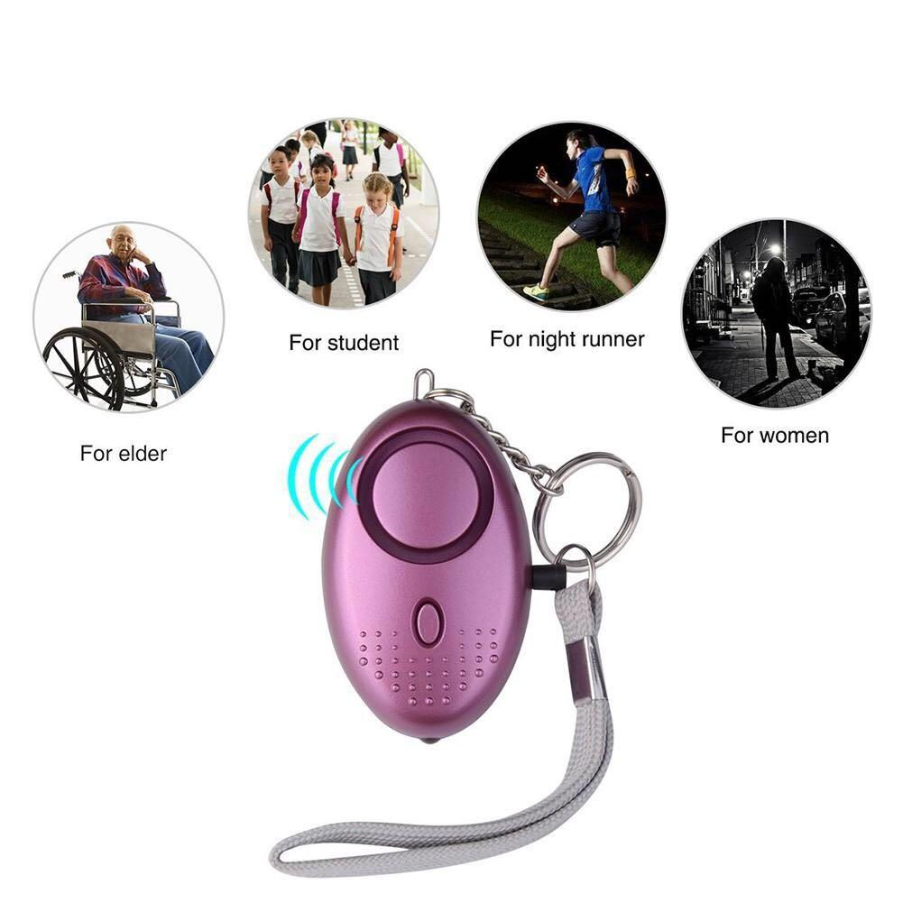 Personal Security Alarm with LED Flashlight for Night Workers, Kids and Elderly