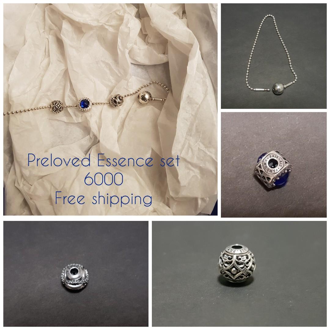 7adff6637 🏷️Preloved Pandora essence brsvelet set with 3 charms, Women's ...