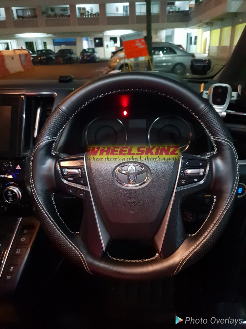 Toyota Customised Leather Steering Wheel Wrap By Wheelskinz Car