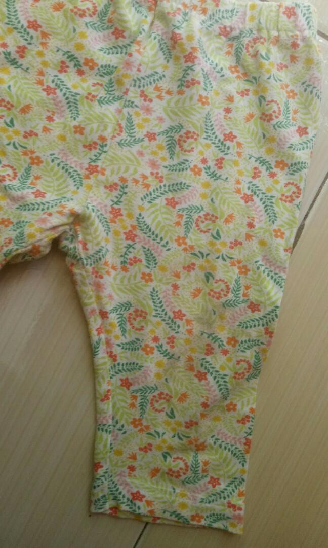 Uniqlo Flowery Baby Pants
