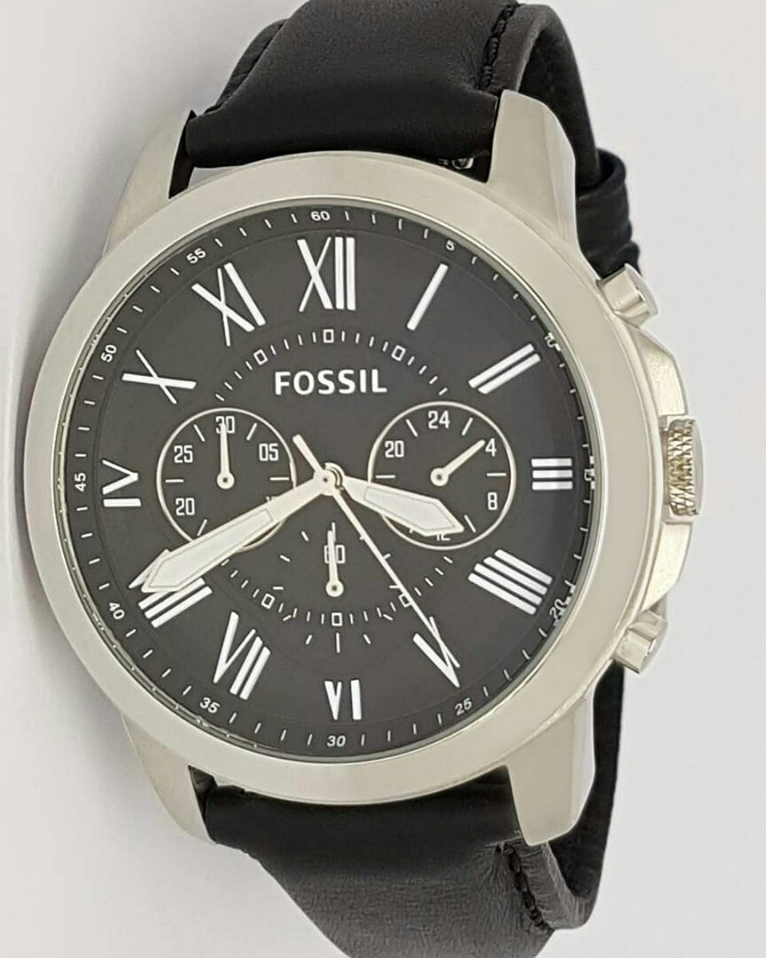 9c5407205 US Bought Authentic Fossil FS4812 Grant Chronograph Black Leather ...