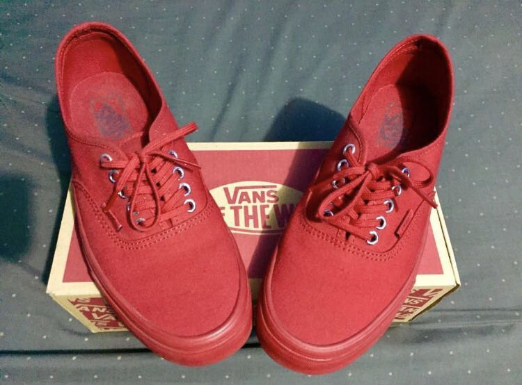 2e565aedfca84d Vans Authentic Primary Mono (Red Silver)
