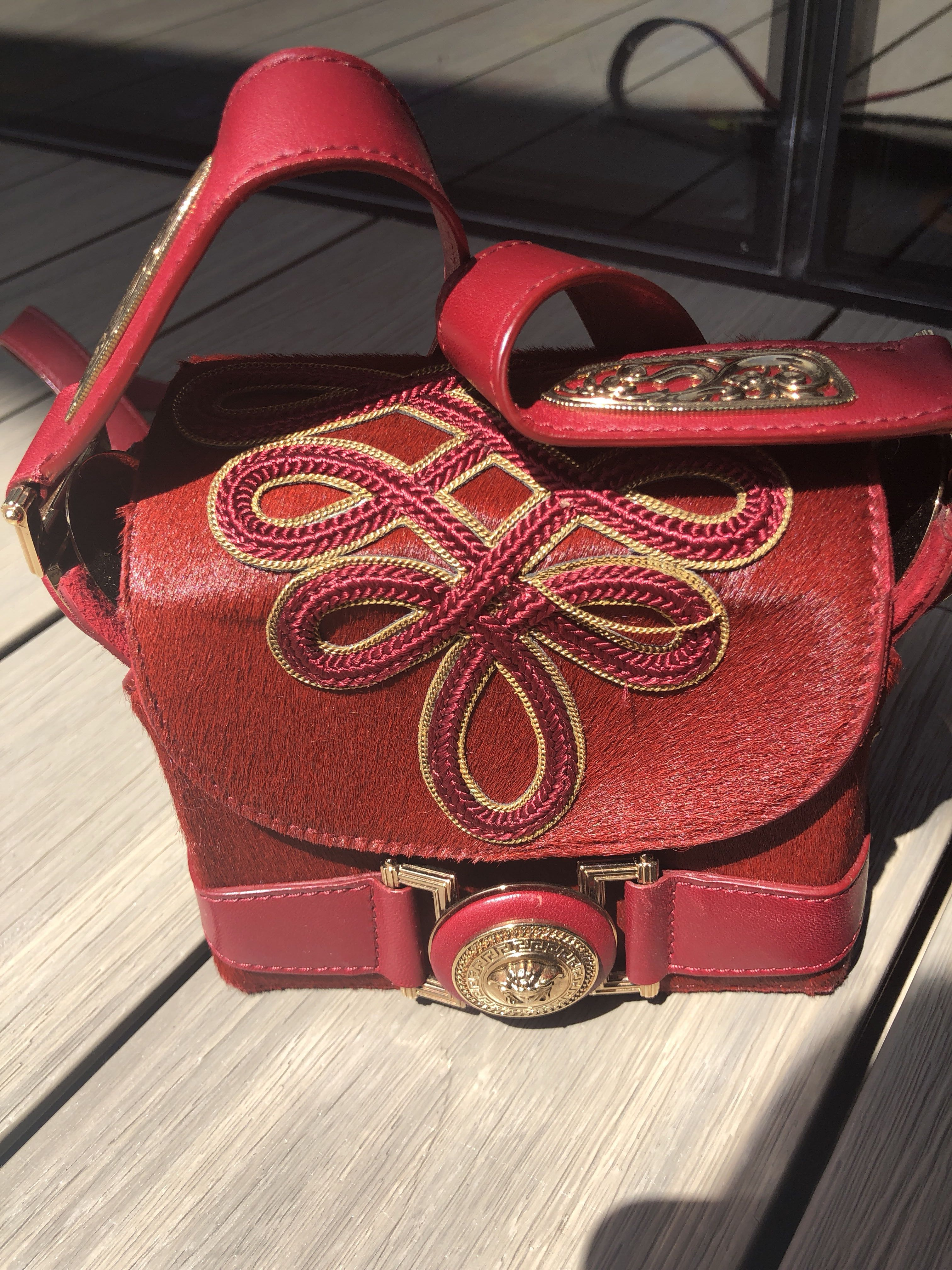 Versace Sling Bag (Authentic), Luxury, Bags   Wallets, Sling Bags on  Carousell c82a867d38