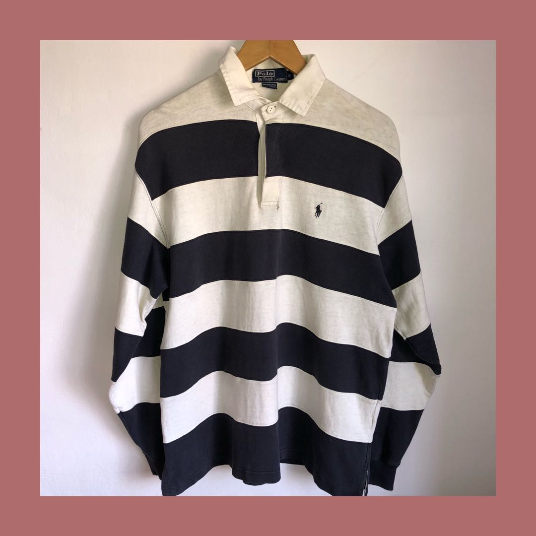 5b6a052127d 🔥Vintage Polo Ralph Lauren Striped Rugby Polo