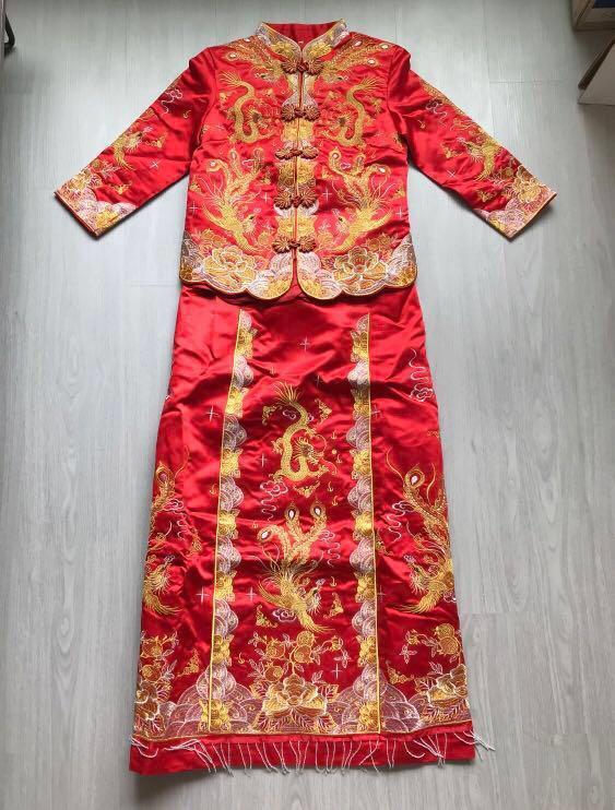 Wedding chinese traditional kua costume