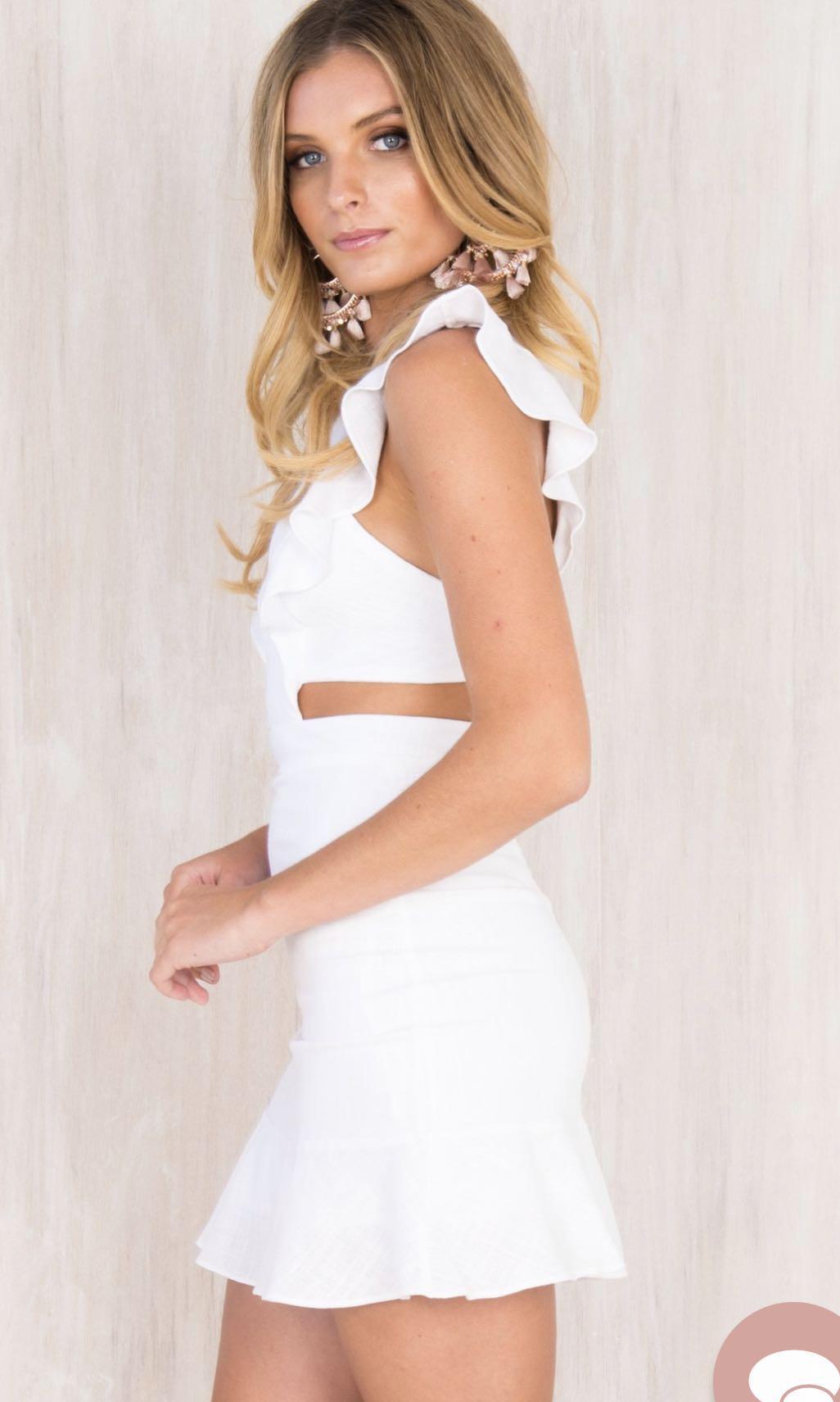 White Summer Mini Dress