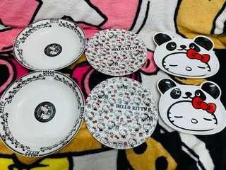 Hello Kitty 陶瓷碟一套