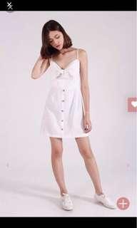 kissablebelle white bow dress