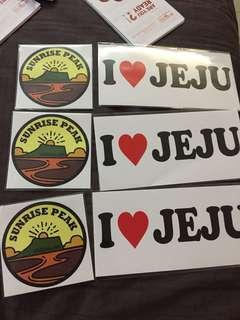 I love jeju and sunrise peak stickers