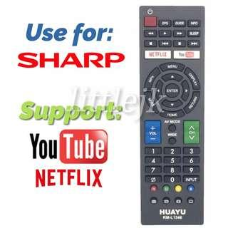 SHARP TV Replacement Remote Control (Support Youtube Netflix)