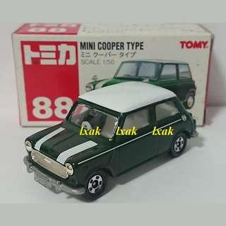 Tomica #088-2 Mini Cooper Type with Red Tomy Logo