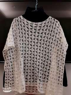 【全新】白色針織衫 罩衫