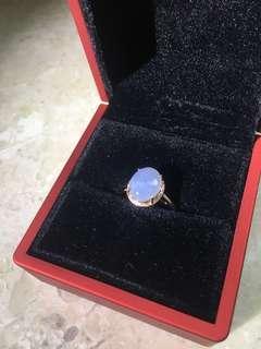 <蝕本清倉>18K金冰種紫羅蘭翡翠戒指
