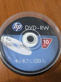 HP DVD-RW 10 pieces (4.7GB/120min video)