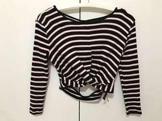 Y.A.S Striped Cropped Top