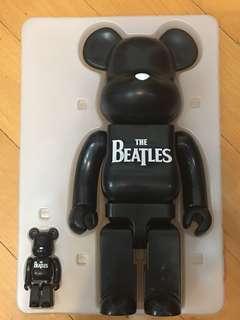 全新 Beatles Bearbrick 400% 100% 兩隻