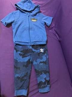 型藍運動套裝