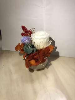 保鮮花擴香石花盆 -秋色