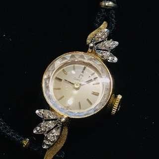 🚚 Omega 女錶 鑽錶 古董錶 上鏈錶