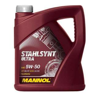 #BlackFriday100 MANNOL Stahlsynt Ultra 5W50 Engine Oil (4L) Made in Germany