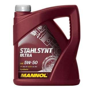 MANNOL Stahlsynt Ultra 5W50 Engine Oil (4L) Made in Germany
