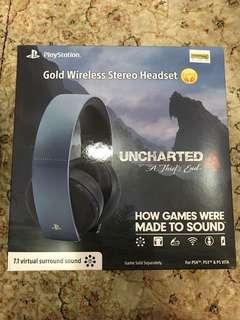 Playstation Gold Wireless Stereo Headset Uncharted 4 Edition
