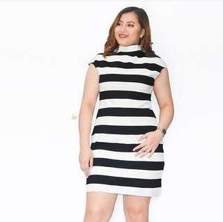 B&W Cap Sleeve Dress