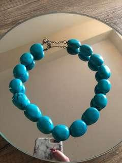 Authentic Turquoise Stone Colmar Nevklace