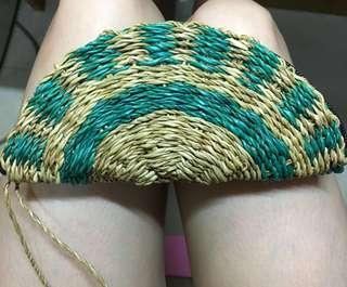 購自東南亞handmade coin bag藤織袋 mini clutch rattan 散紙包 小手袋