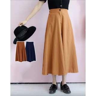🚚 復古高腰寬褲裙