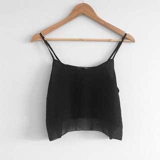 Black camisole singlet
