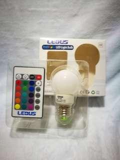 RGB LED Bulb with remote #blackFriday100