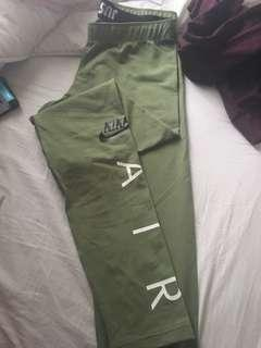 Olive green Nike leggings