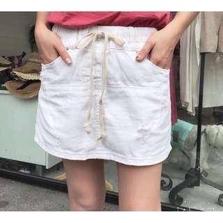 🚚 白色褲裙