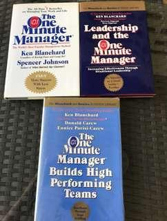 One Minute Manager Hatdcover Series