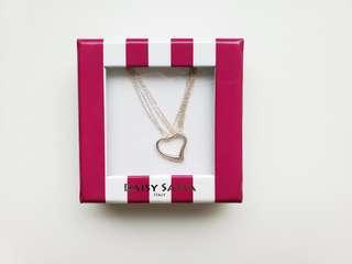 Simple Heart Necklace with Box.  Made in Italy.