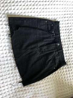 Denim skirt size 8 worn once