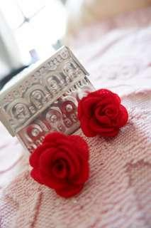 Red Flower Earring (Anting Bunga)