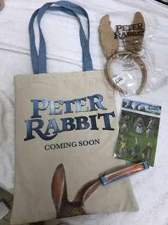 Peter Rabbit Sticker Pen Bag Bunny Headband Set