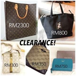 Clearance Stock for LV, Fendi, Gucci, Balenciaga and Coach