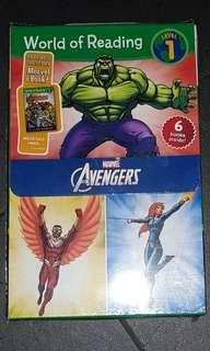 6X THE AVENGERS WORLD OF READING BOOK SET