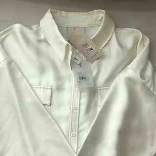 White Classic Long Sleeves Shirt
