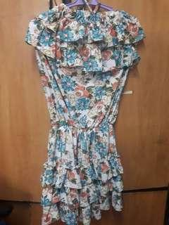 Ruffles Floral Tube Shorts Romper