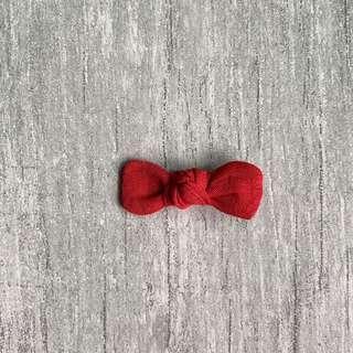 Scarlett // Petite Knotted Bow   Linen blend   Baby hair bow   Handmade