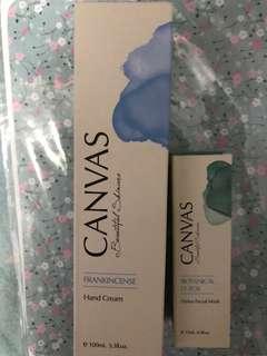 Canvas Hand Cream 100ml 送 facial mask 15ml