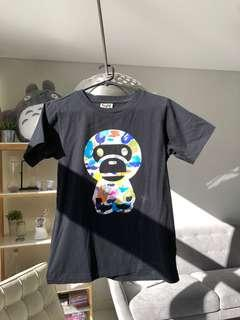 A Bathing APR (BAPE) Milo glow in the dark shirt size small