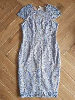 BNWT Dorothy Perkins Blue Crochet Lace Dress