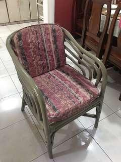 2 seater rattan chair with foam