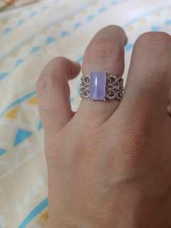 18k紫玉碎石戒指